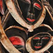 Masks Of Africa Art Print