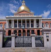 5- Massachusetts State House Eckfoto Boston Freedom Trail Art Print