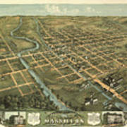 Massillon Ohio 1870 Art Print