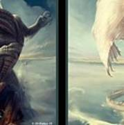 Massive Dragon - Gently Cross Your Eyes And Focus On The Middle Image Art Print