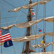 Mast Flags Art Print