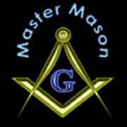 Master Mason In Black Art Print