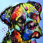 Mastiff Warrior Art Print