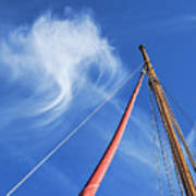 Masts And Clouds Art Print
