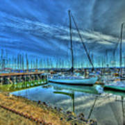 Masts Without Sails Art Print by Dale Stillman