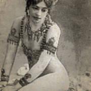 Mata Hari Sketch Art Print