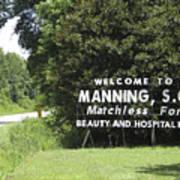 Matchless Manning Art Print