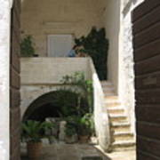 Matera, Italian Courtyard Art Print