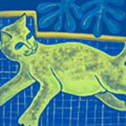 Matisse's Cat In Reverse Art Print