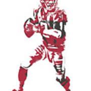 Matt Ryan Atlanta Falcons Pixel Art 5 Art Print