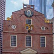 22- Matt V. Group At The Old State House In Boston, Massachusetts On August 26, 2016 Art Print