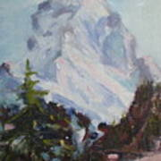 Matterhorn At 8 Pm Art Print