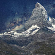 Matterhorn In Starry Night Art Print