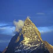 Matterhorn Mountain At Sunrise, Close Up Art Print