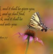 Matthew 7 7 Art Print