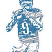 Matthew Stafford Detroit Lions Pixel Art 5 Art Print