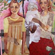 Maude And Baby Bette Art Print
