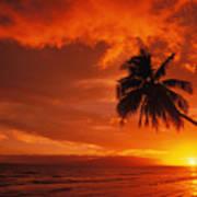 Maui, A Beautiful Sunset Art Print