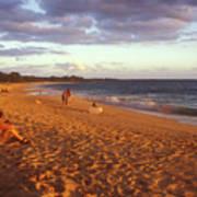 Maui Beach In Evening Art Print