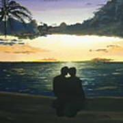 Maui Beach Sunset Art Print