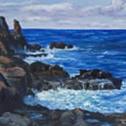 Maui Rugged Coastline Art Print