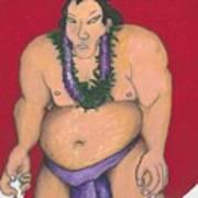 Maui Sumo Art Print