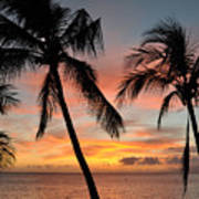 Maui Sunset Palms Print by Kelly Wade