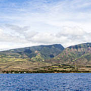 Maui - View From The Boat Art Print