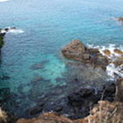 Maui Water And Rocks Art Print