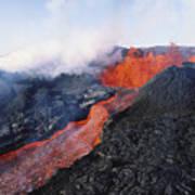 Mauna Loa Eruption Art Print by Joe Carini - Printscapes