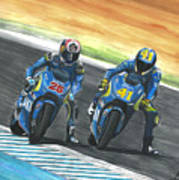 Maverick Y Aleix Full Brake Art Print