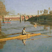 Max Schmitt In A Single Scull Art Print by Thomas Cowperthwait Eakins