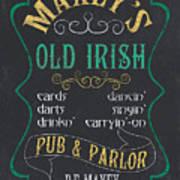 Maxey's Old Irish Pub Art Print