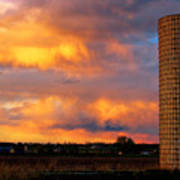 May Day Silo Sunset Art Print