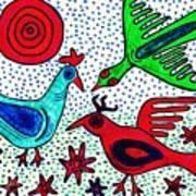 Mayan Birds Art Print