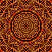 Mayan Sun God Art Print