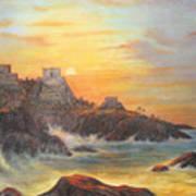 Mayan Sunset Art Print