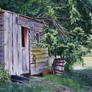 Mayne Island Sawmill Art Print