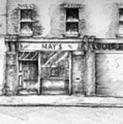 Mays Shop North King Street Dublin 7 Art Print