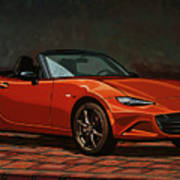 Mazda Mx-5 Miata 2015 Painting Art Print