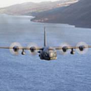 Mc-130h Combat Talon II Over Loch Ness Art Print