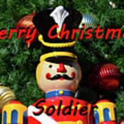 Custom Soldier Christmas Card Art Print