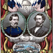 Mcclellan And Pendleton Campaign Poster Art Print