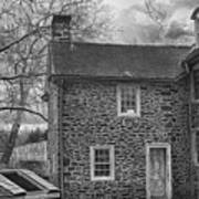 Mcconkey Ferry Inn Black And White Art Print