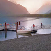 Mcdonald Lake At Dusk Art Print