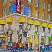 Mcdonald Restaurant Old Montreal Art Print