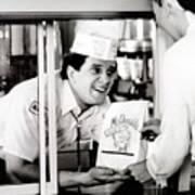 Mcdonalds Restaurant Crew Member Art Print by Everett