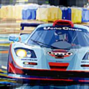 Mclaren Bmw F1 Gtr Gulf Team Davidoff Le Mans 1997 Art Print by Yuriy  Shevchuk