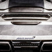 Mclaren Mp4 12c Rear View -0668ac Art Print