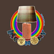 Mconomy Rainbow Brick Lamp Art Print